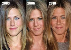 Evolución estética de Jennifer Aniston.