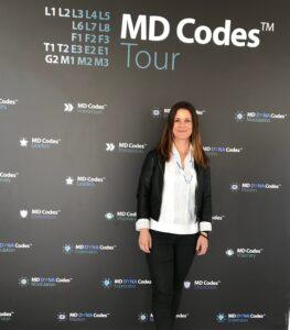 La dra. Elena Moreno en un reciente congreso de medicina estética.