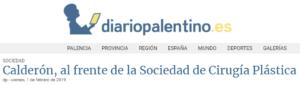 El DIARIO PALENTINO se hace eco del nombramiento del cirujano plástico Ramón Calderón como nuevo presidente de SECPRE