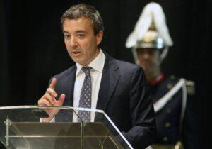 Ramón Calderón en su reciente discurso en el Día del Palentino Ausente. Foto: Manuel Brágimo (ICAL)
